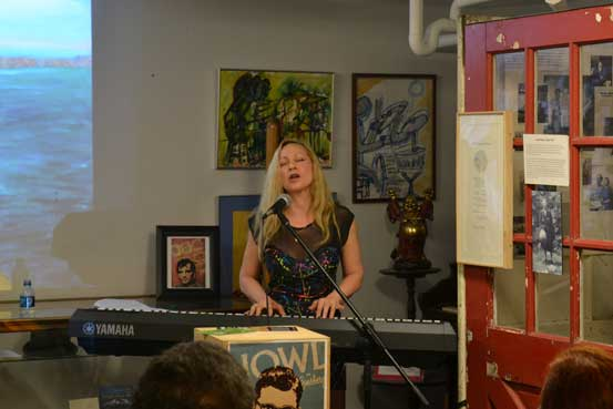 Nancy Calef performing originals